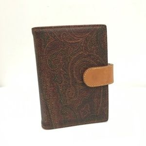 Etro Paisley Collection Printed Agenda Wallet